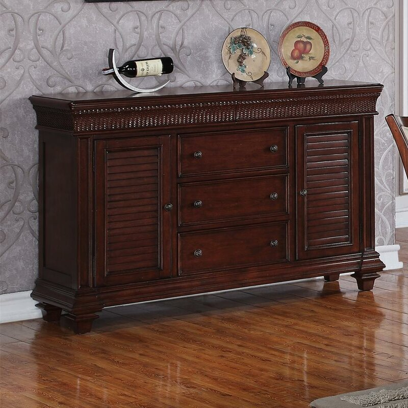 """World Menagerie Souleymane 58"""" Wide 5 Drawer Sideboard Intended For Keiko 58"""" Wide Sideboards (View 14 of 15)"""