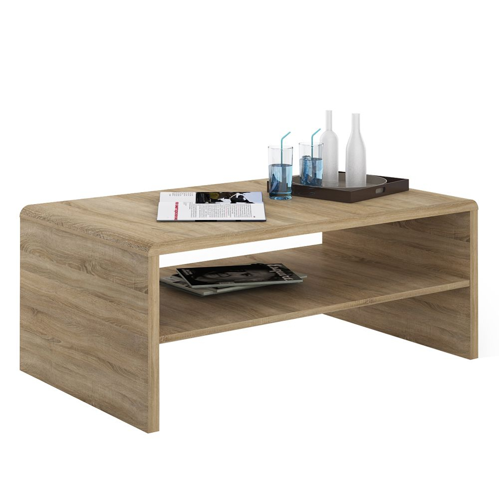 4 You Wide Coffee Table Tv Unit In Sonama Oak Throughout Tiva Ladder Tv Stands (View 2 of 11)