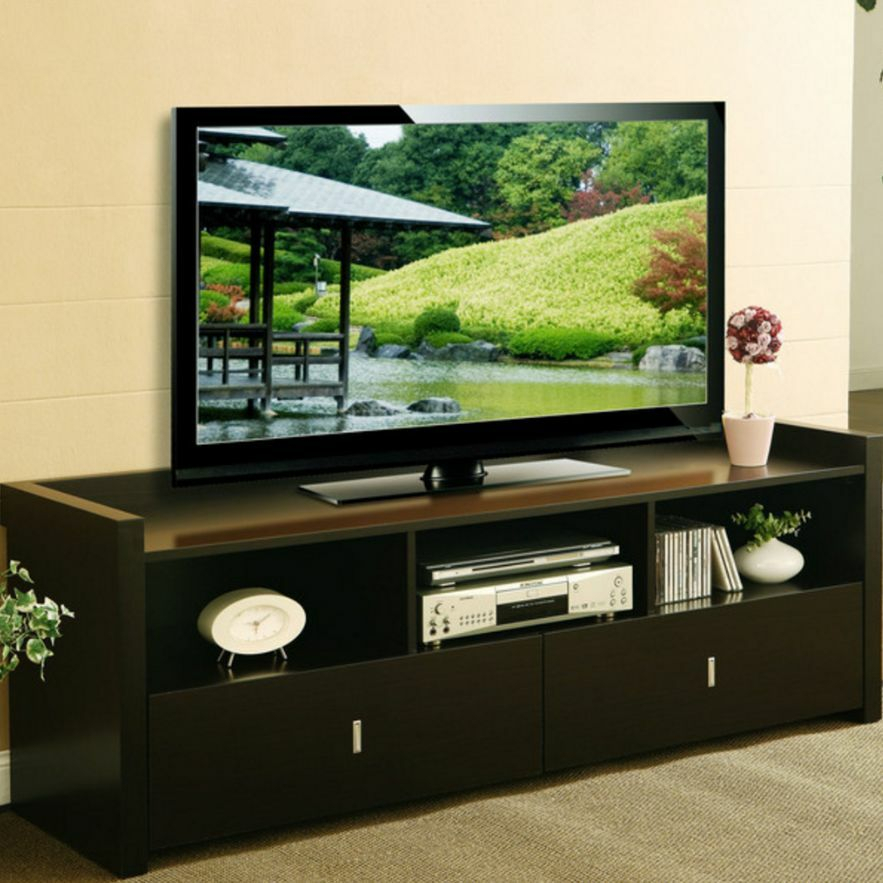 60 Inch Tv Stand Media Entertainment Console Table For Within Corner 60 Inch Tv Stands (View 7 of 15)