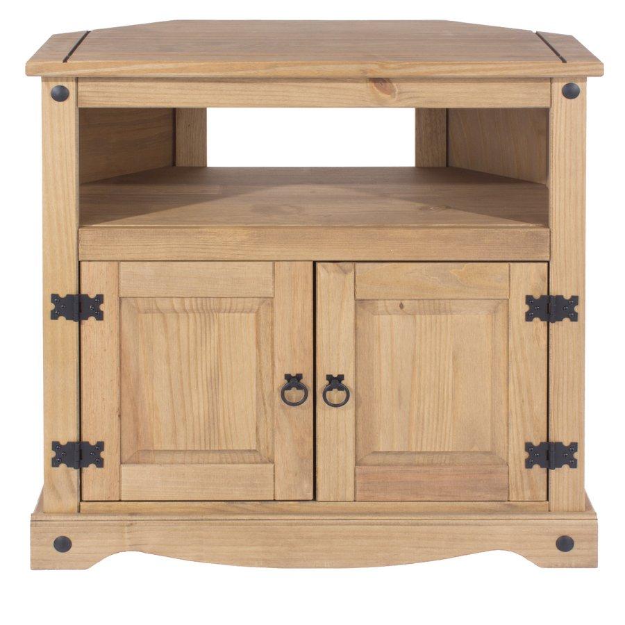 Abdabs Furniture – Corona Pine Corner Tv Cabinet With Corona Pine 2 Door 1 Shelf Flat Screen Tv Unit Stands (View 8 of 15)