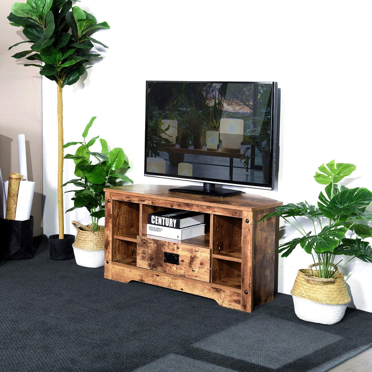 Aingoo Small Corner Tv Stand Table  (View 3 of 15)