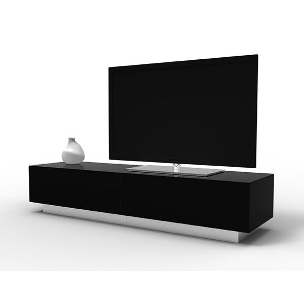 Alphason Element Emt1700 High Gloss Black Tv Cabinet Intended For Long Black Gloss Tv Unit (View 12 of 15)