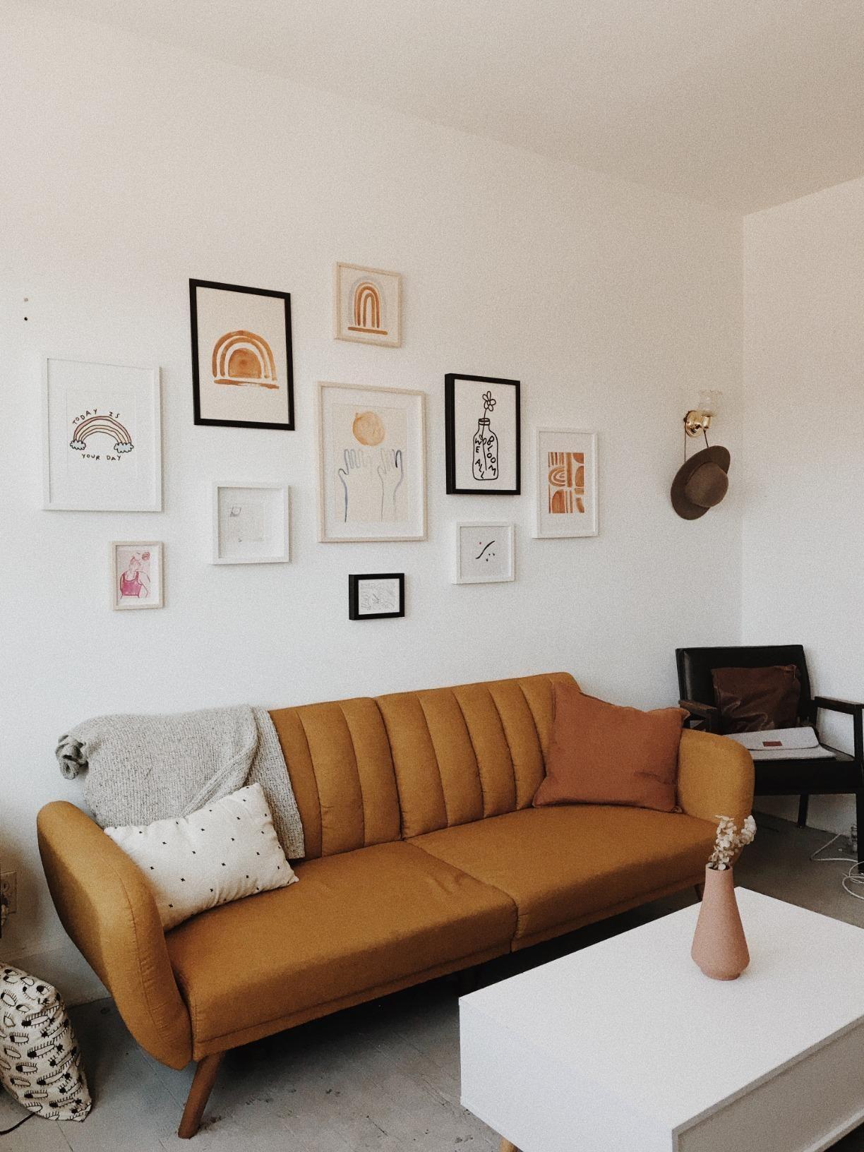 Amazon: Novogratz Brittany Sofa Futon, Premium Linen Throughout Brittany Sectional Futon Sofas (View 12 of 15)