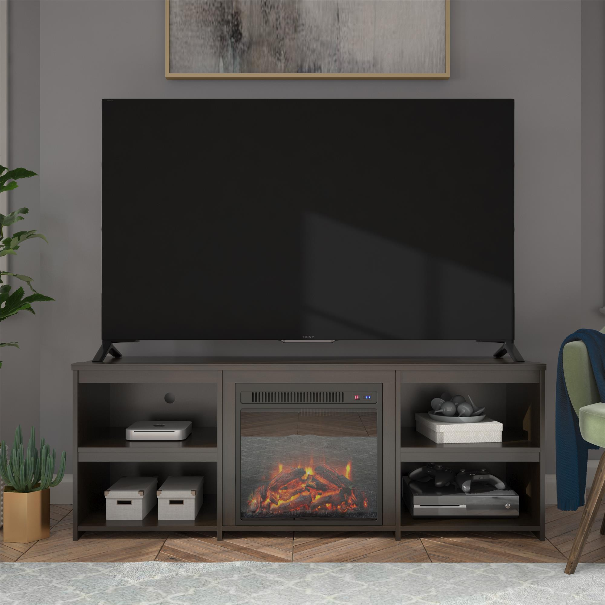 """Ameriwood Home Bannack Fireplace Tv Stand For Tvs Up To 65 Inside Grenier Tv Stands For Tvs Up To 65"""" (View 7 of 15)"""
