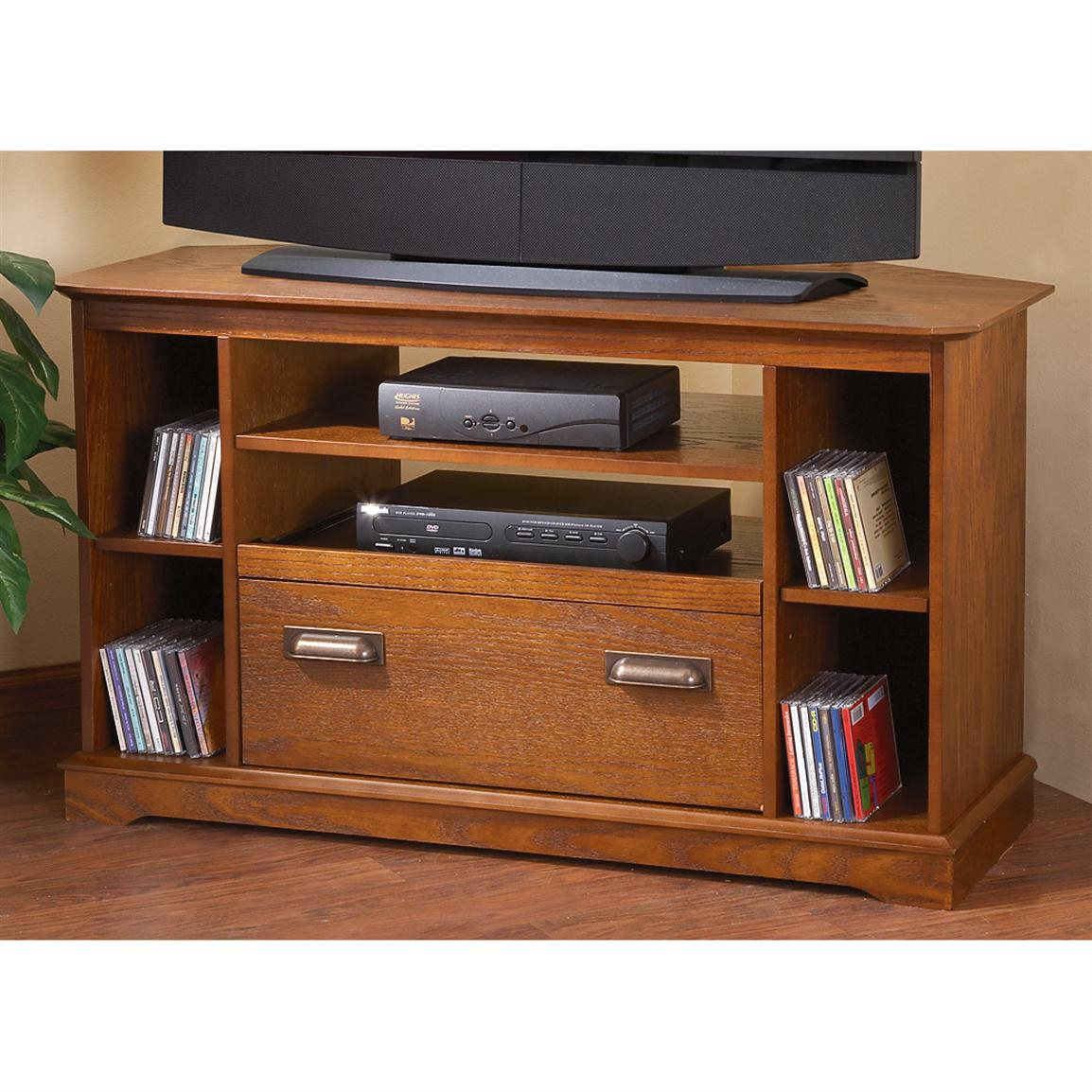 Antique Oak Corner Tv Cabinet – 154271, At Sportsman's Guide In Corner Tv Cabinet With Hutch (View 2 of 15)