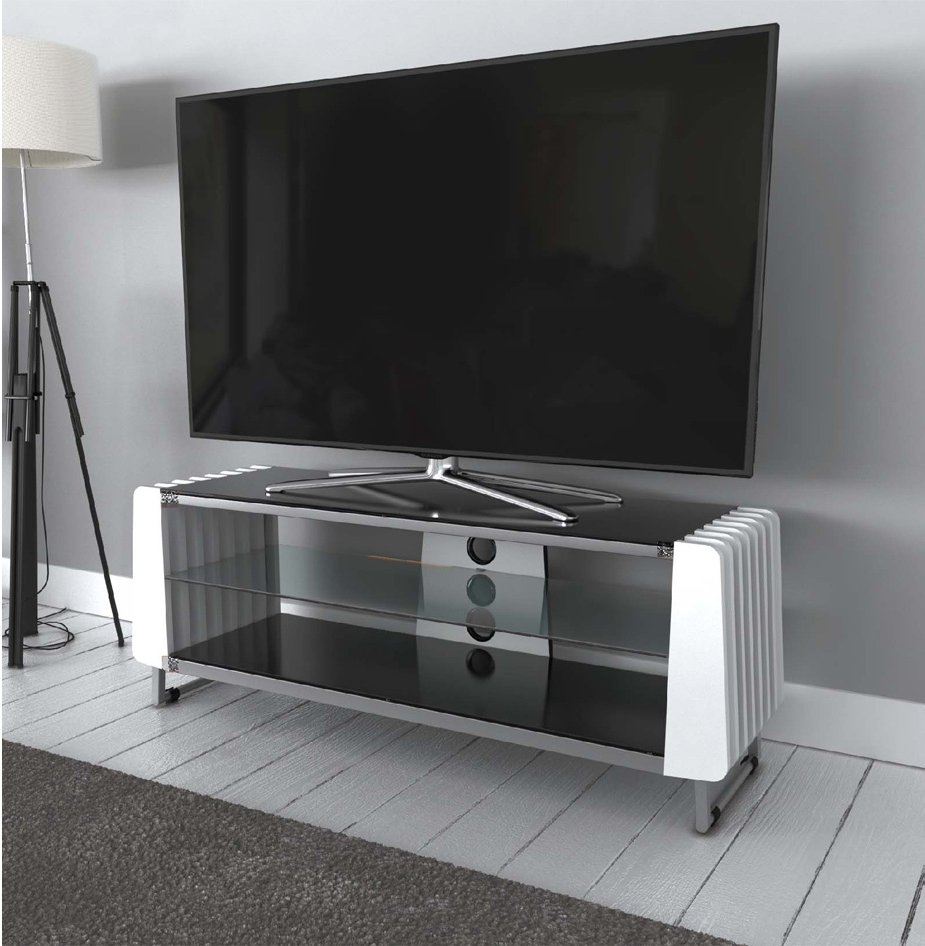 """Avf Grv1250a White Options Groove Tv Stand For Up To 55 Regarding Baba Tv Stands For Tvs Up To 55"""" (View 6 of 15)"""
