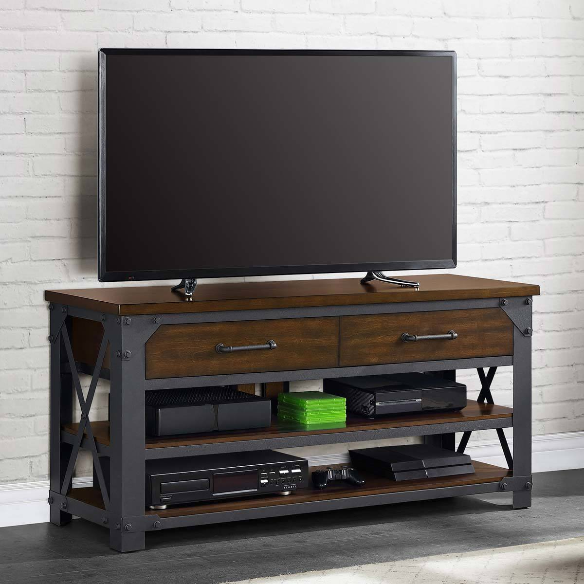 Bayside Furnishings Logan 3 In 1 Tv Stand For Tvs Up To 65 Intended For Logan Tv Stands (View 6 of 15)