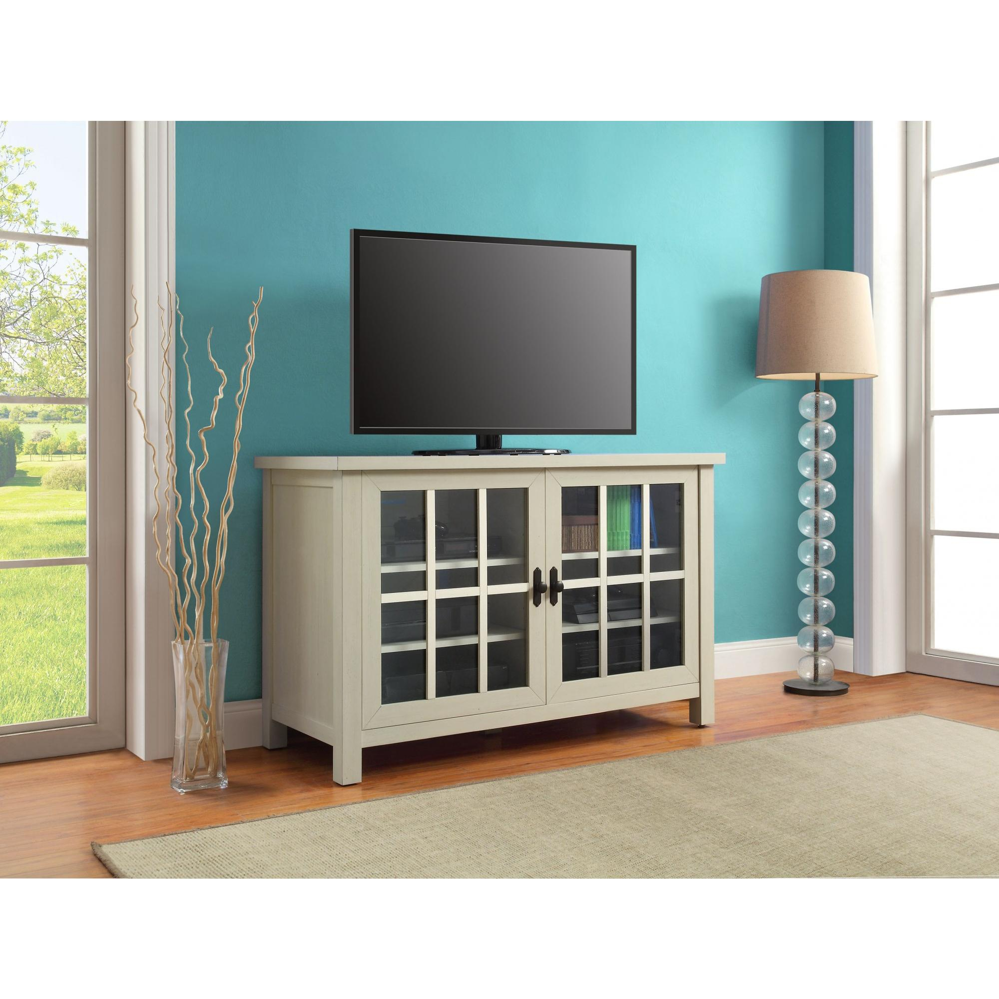 Better Homes And Gardens Oxford Square Tv Console For Tvs Intended For Square Tv Stands (View 6 of 15)