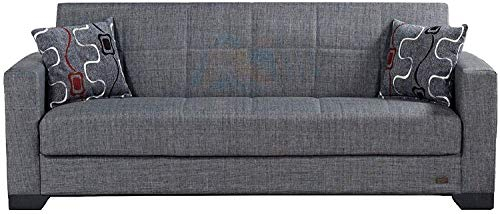 Beyan Sb 2019 Smoke Vermont Modern Chenille Fabric With Regard To Hugo Chenille Upholstered Storage Sectional Futon Sofas (View 10 of 15)
