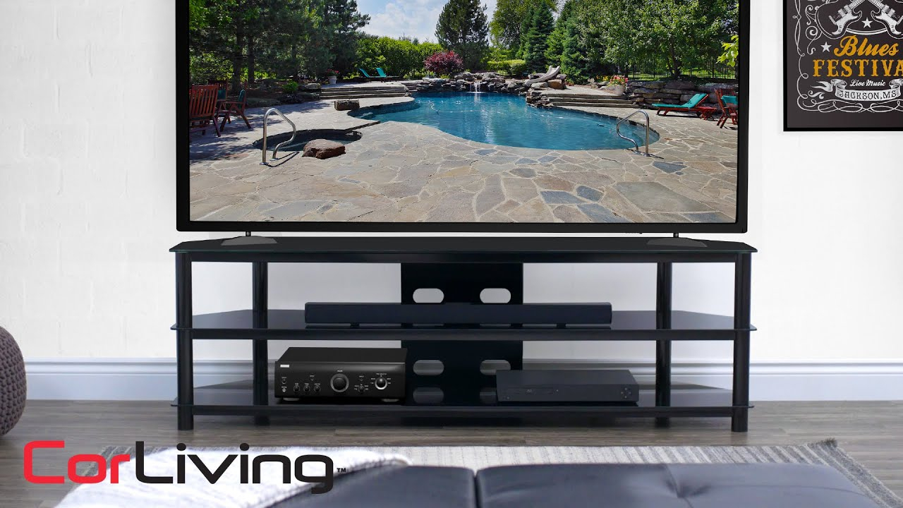 Black Gloss Tv Bench – Travers Collection | Corliving Regarding Black Gloss Tv Bench (View 6 of 15)