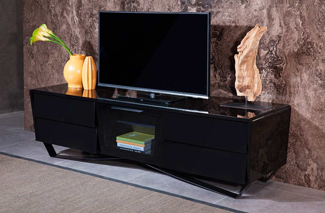 Black High Gloss Tv Stand Vg 103 | Tv Stands With High Gloss Tv Cabinet (View 12 of 15)