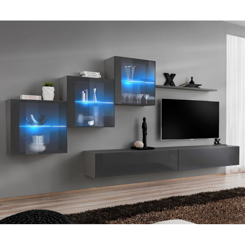 Bmf Switch Xx Wall Unit 330cm Wide Tv Stand Shelf Three In Square Tv Stands (View 3 of 15)
