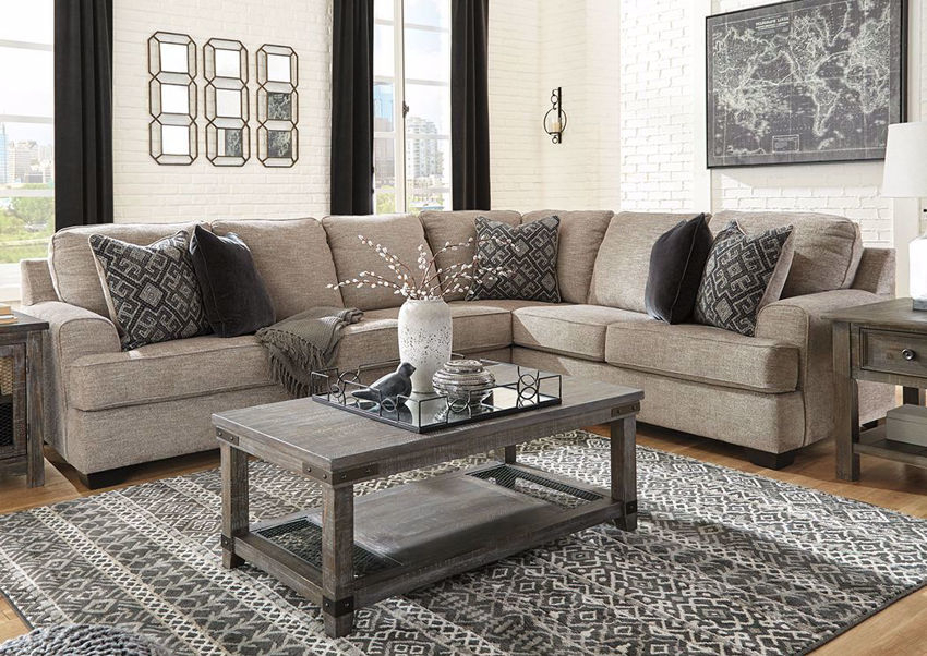 Bovarian Sectional Sofa Right – Brown   Home Furniture Regarding Hannah Right Sectional Sofas (View 9 of 15)