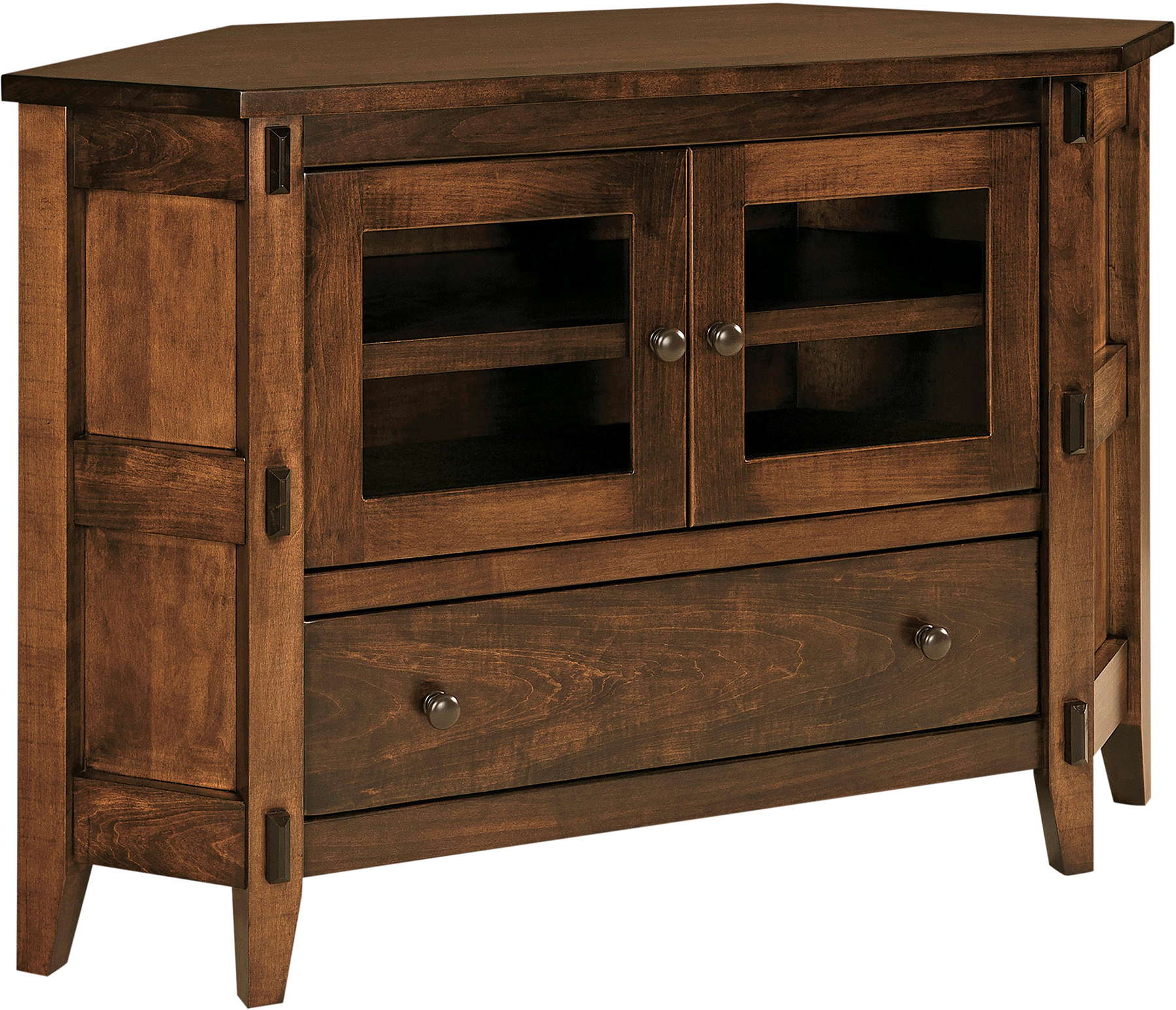 Bungalow Small Corner Tv Cabinet | Amish Bungalow Corner Throughout Corner Tv Cabinet With Hutch (View 11 of 15)