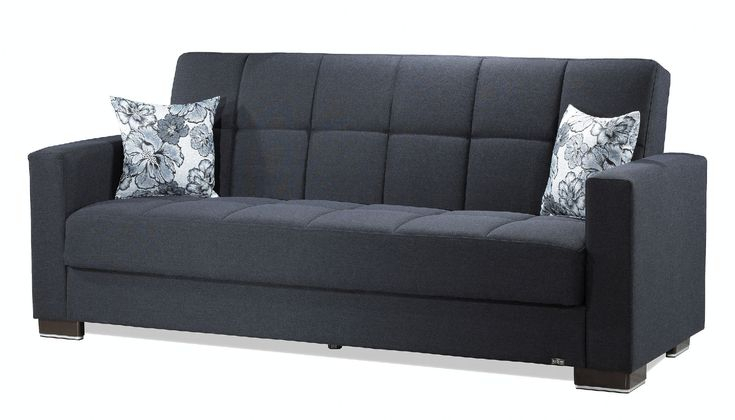 Casamode Armada Dark Blue Chenille Polyester Sofa W Pertaining To Hugo Chenille Upholstered Storage Sectional Futon Sofas (View 14 of 15)