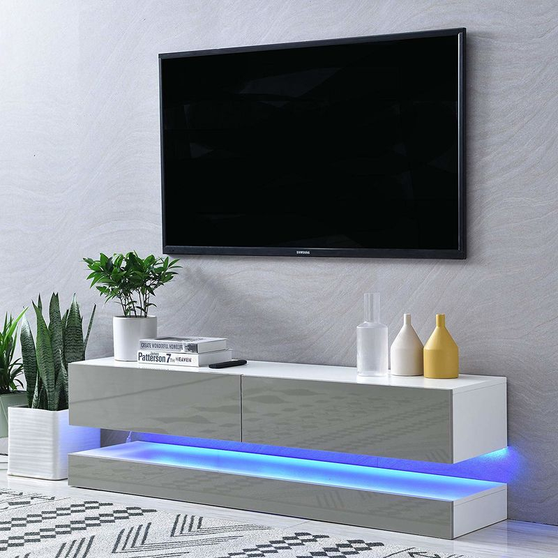 Cherry Tree Furniture Meldal Led High Gloss Tv Stand, Tv With Regard To High Gloss Tv Cabinet (View 9 of 15)