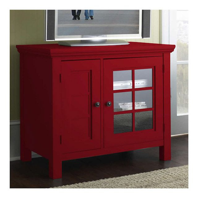 Chili Pepper Red Tv Media Stand – Bernie And Phyls   Red Regarding Red Tv Units (View 10 of 15)