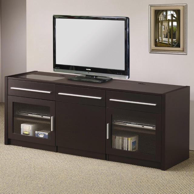 Coaster | Contemporary Tv Console | Hidden Mobile Computer Regarding Tv Stand Computer Desk Combo (View 15 of 15)