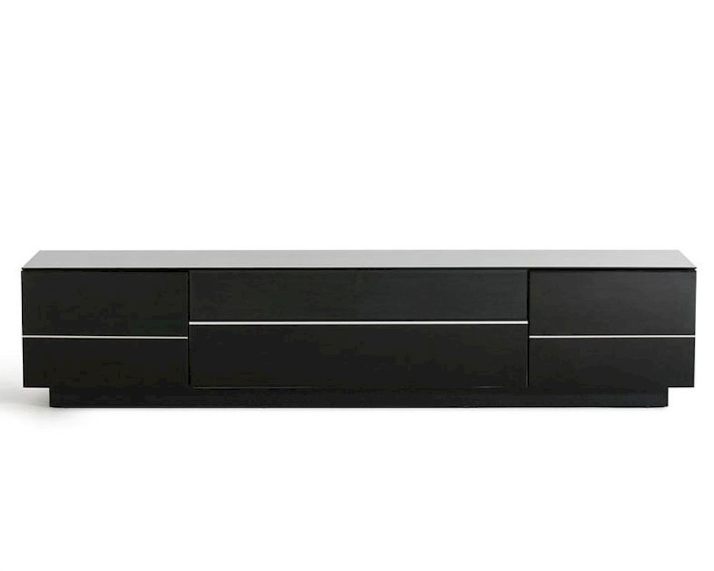 Contemporary Black High Gloss Tv Stand 44ent6202 Throughout High Gloss Tv Cabinet (View 15 of 15)