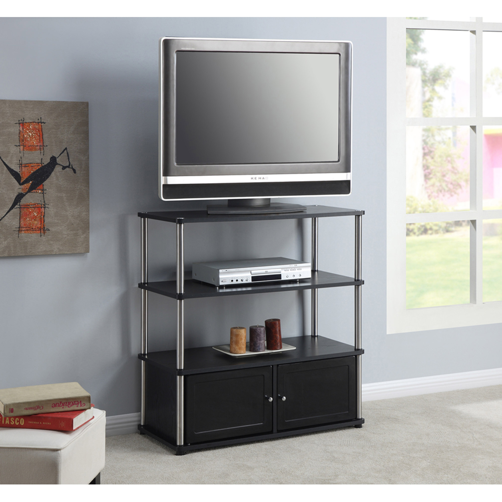 """Convenience Concepts Designs2go Highboy Tv Stand, For Tvs With Colleen Tv Stands For Tvs Up To 50"""" (View 9 of 15)"""