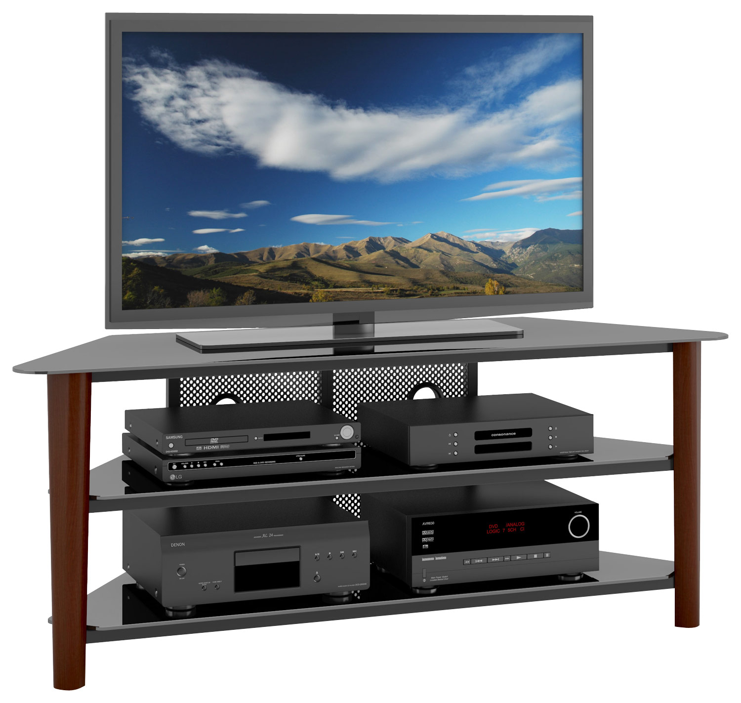 Corliving Tv Stand For Most Flat Panel Tvs Up To 68 In Easel Tv Stands For Flat Screens (View 12 of 15)