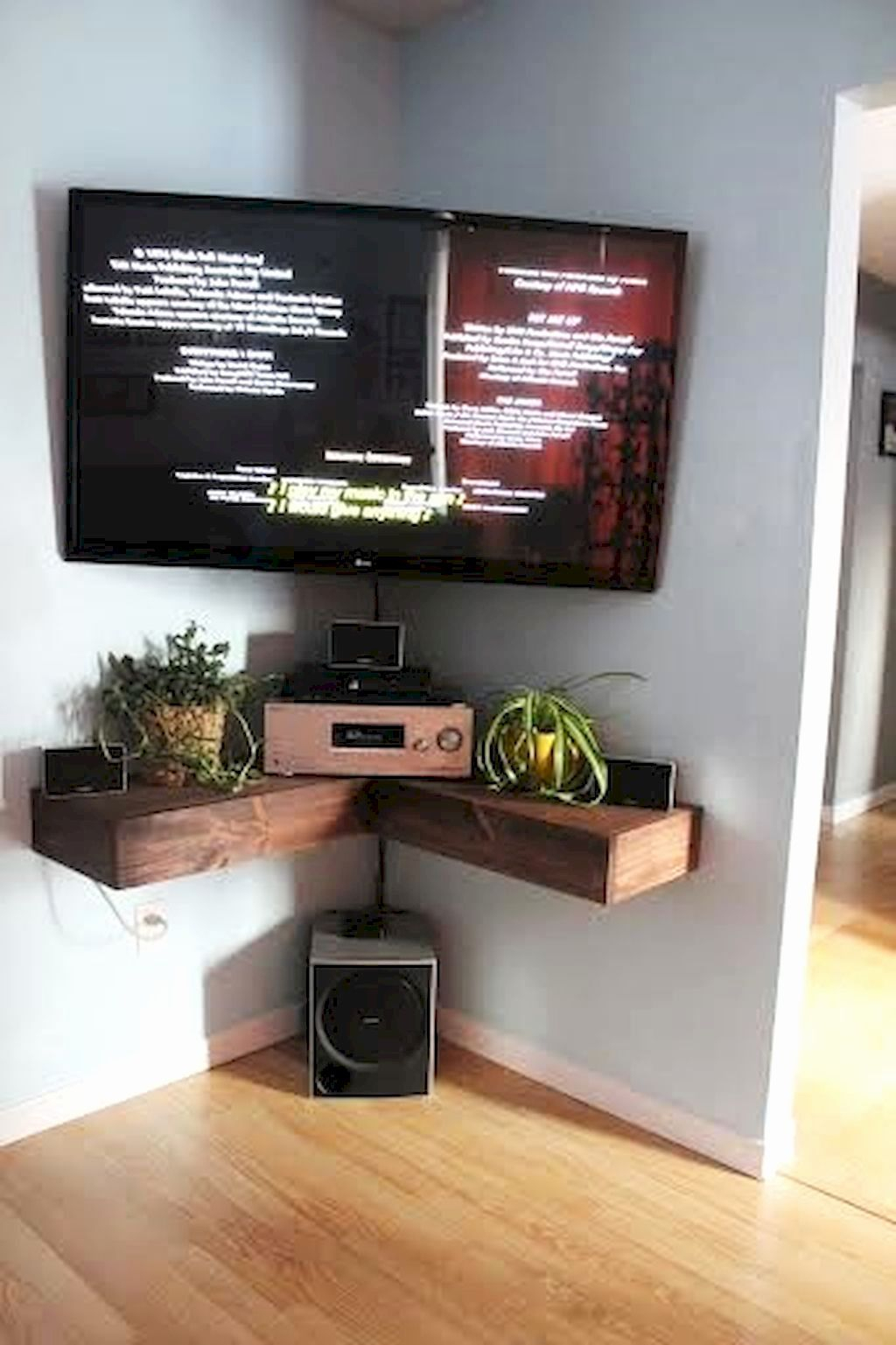 Corner Tv Stand For 65 Inch Tv Elegant Interior Decoration Intended For Low Corner Tv Stands (View 11 of 15)