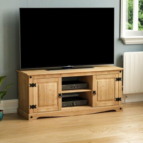 Corona 2 Door 1 Shelf Flat Screen Tv Unit Stand Cabinet Pertaining To Corona Grey Flat Screen Tv Unit Stands (View 11 of 15)