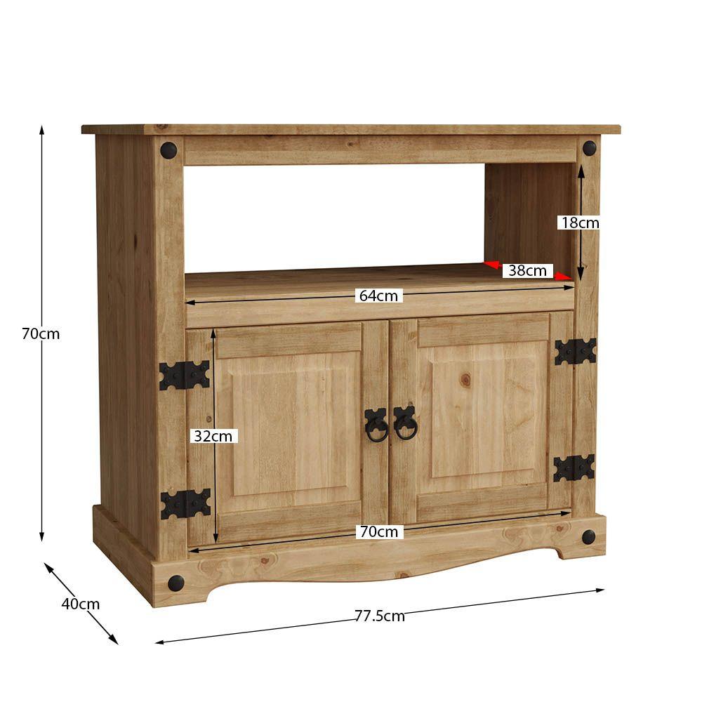 Corona Panama Tv Cabinet Media Dvd Unit Solid Pine Wood Inside Corona Pine 2 Door 1 Shelf Flat Screen Tv Unit Stands (View 10 of 15)