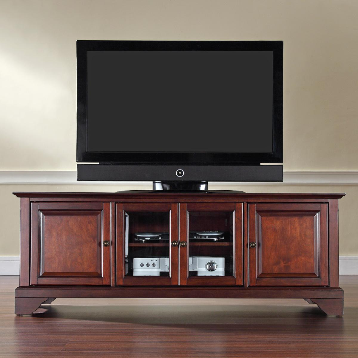 """Crosley Lafayette 60"""" Low Profile Tv Standoj Commerce Throughout Low Corner Tv Stands (View 1 of 15)"""