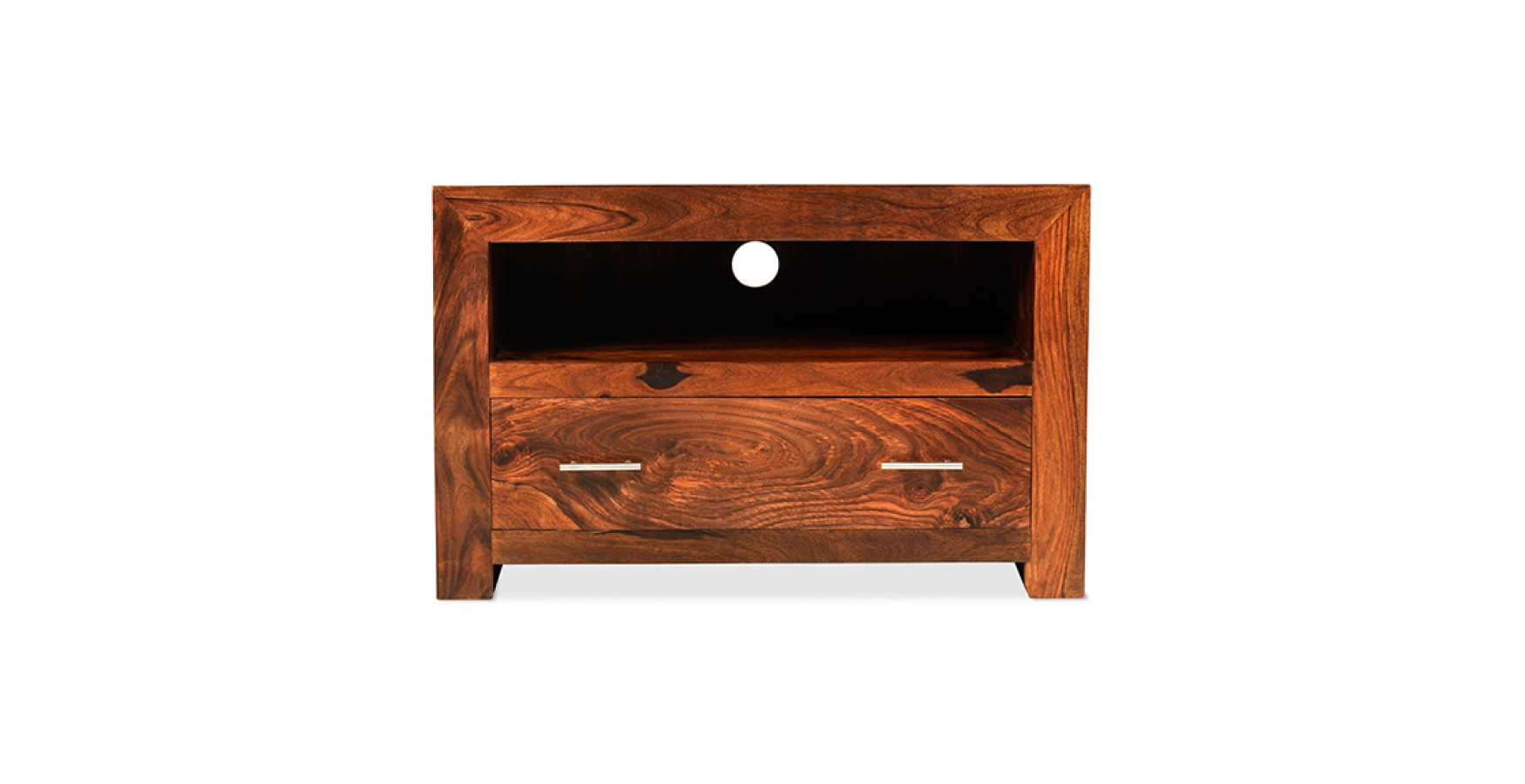 Cuba Sheesham Square Tv Stand – Lifestyle Furniture Uk Inside Square Tv Stands (View 11 of 15)