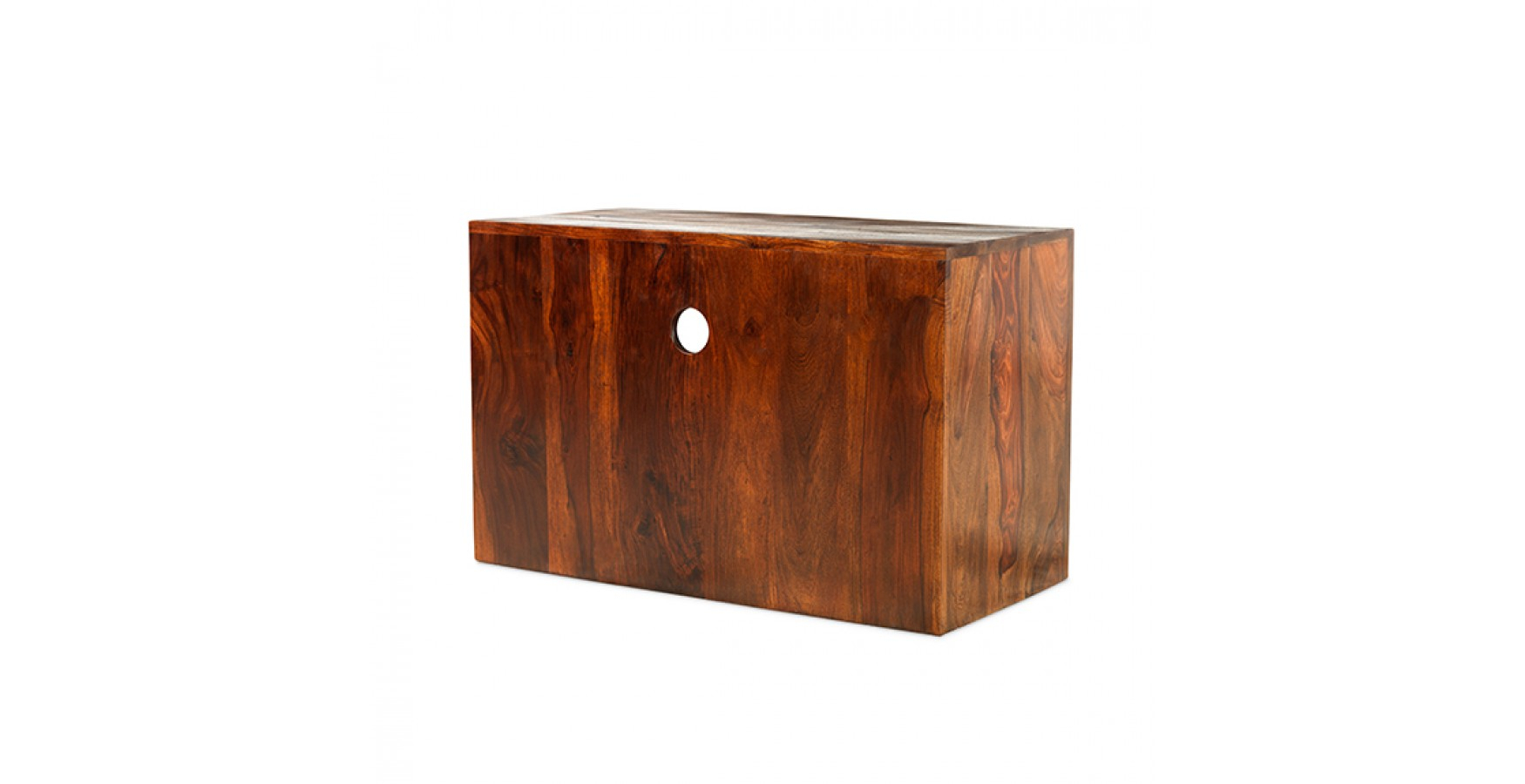 Cuba Sheesham Square Tv Stand – Lifestyle Furniture Uk Pertaining To Square Tv Stands (View 13 of 15)