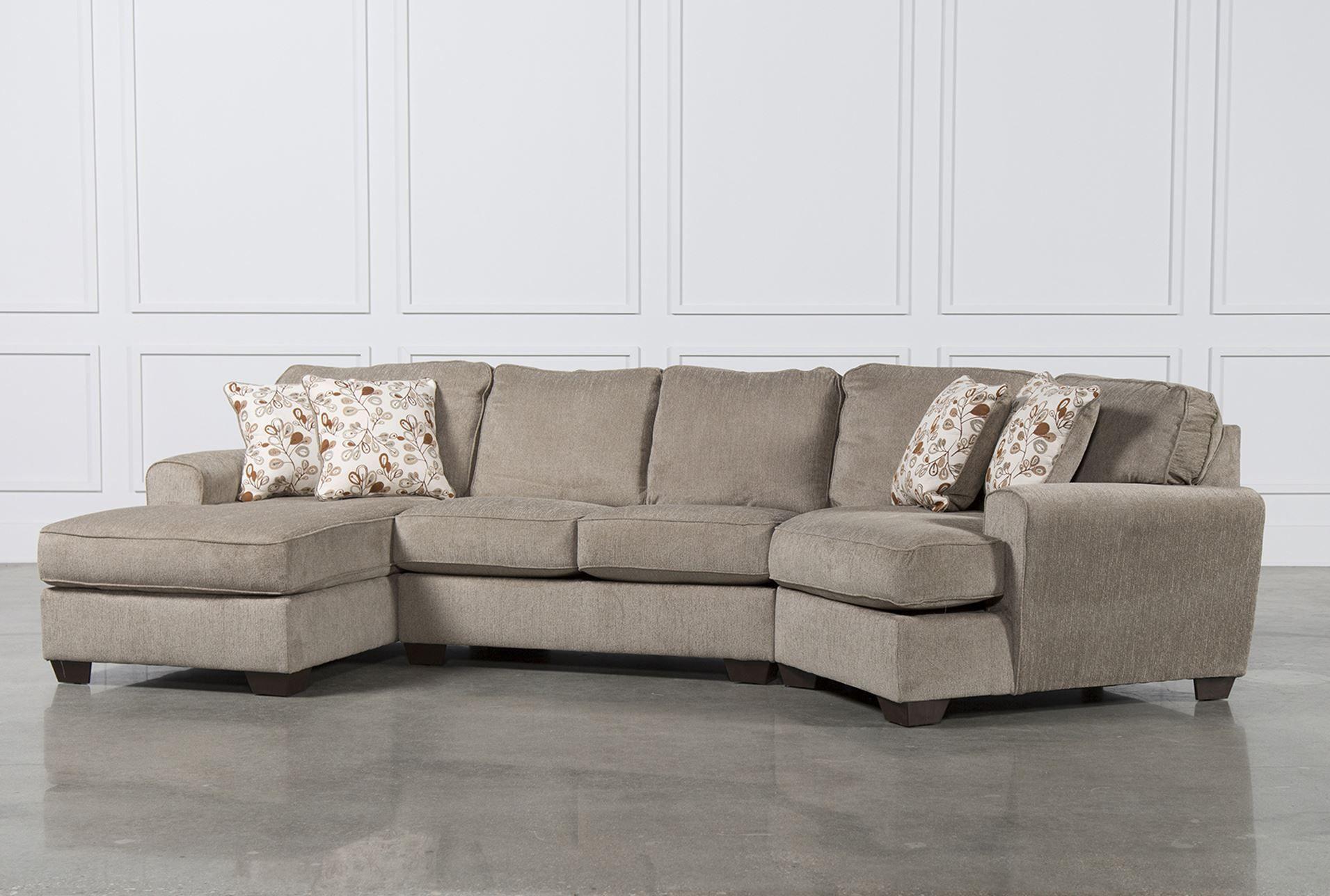 Cuddler Sectional Sofa Carena 2 Pc Fabric Sectional Sofa In Hannah Right Sectional Sofas (View 3 of 15)