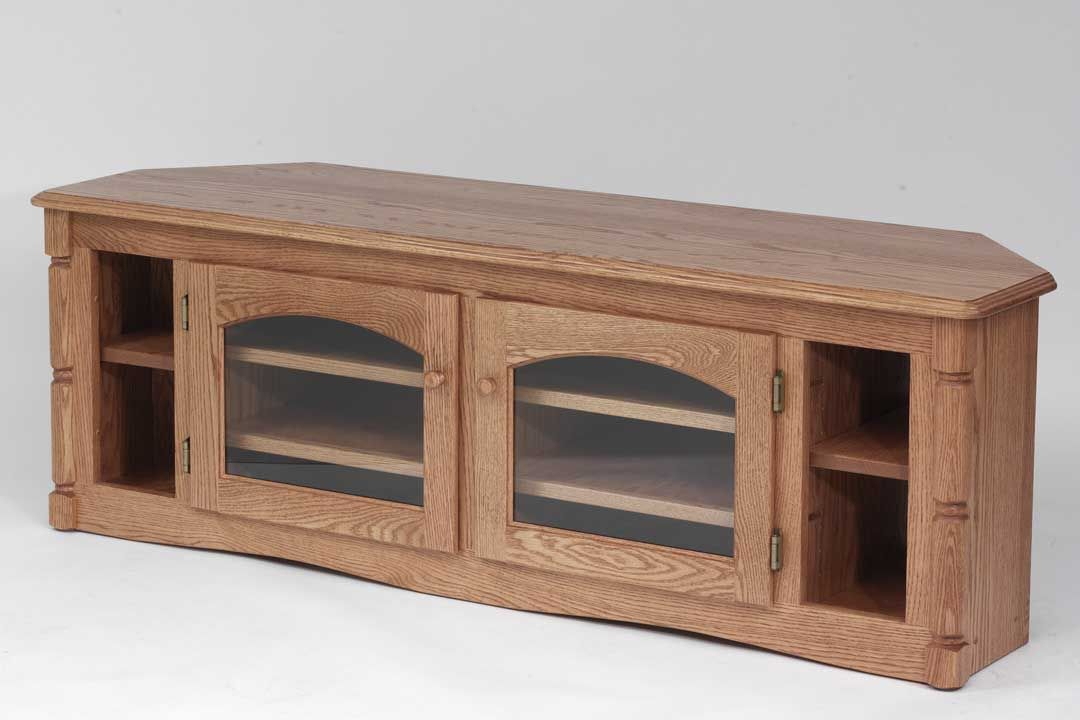 Custom Solid Wood Tv Stand Country Oak Plasma Lcd Corner With Wooden Tv Stand Corner Units (View 14 of 15)
