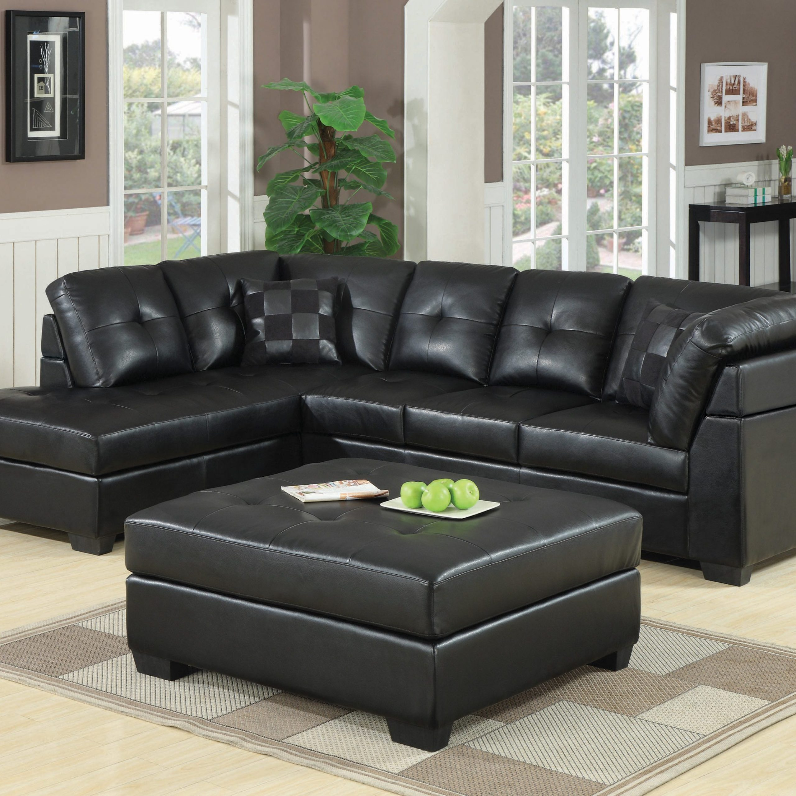 Darie Cushion Back Tufted Sectional Sofa Black – Coaster Within Hannah Right Sectional Sofas (View 15 of 15)