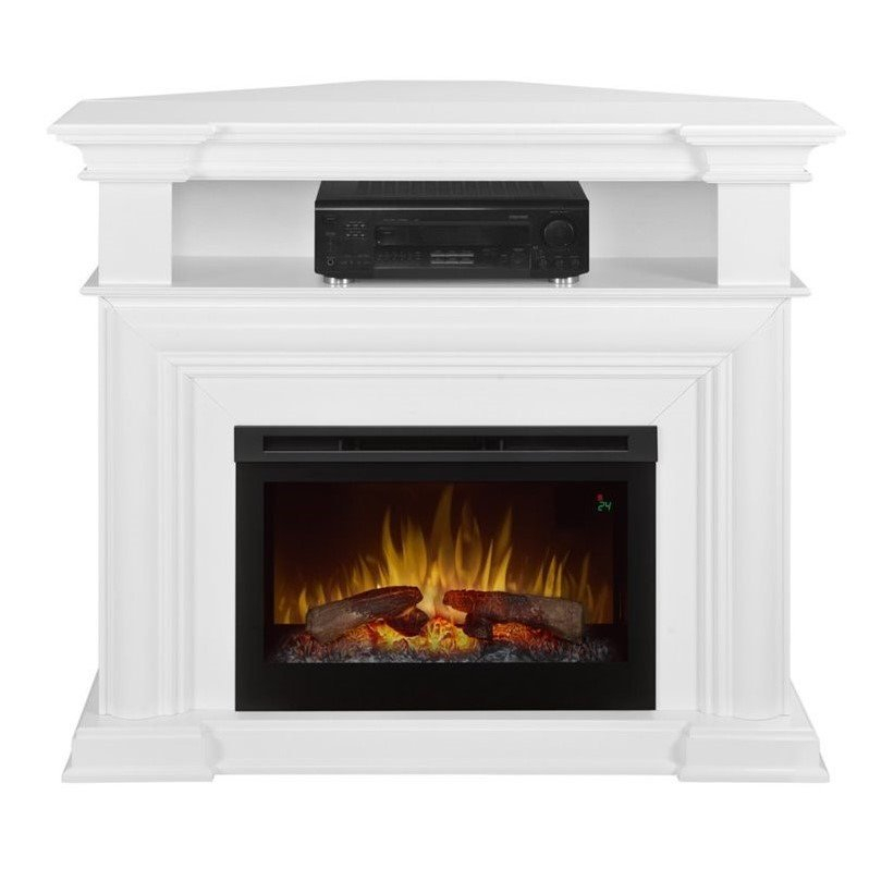 """Dimplex Colleen Corner Tv Stand With Electric Fireplace In Inside Colleen Tv Stands For Tvs Up To 50"""" (View 1 of 15)"""
