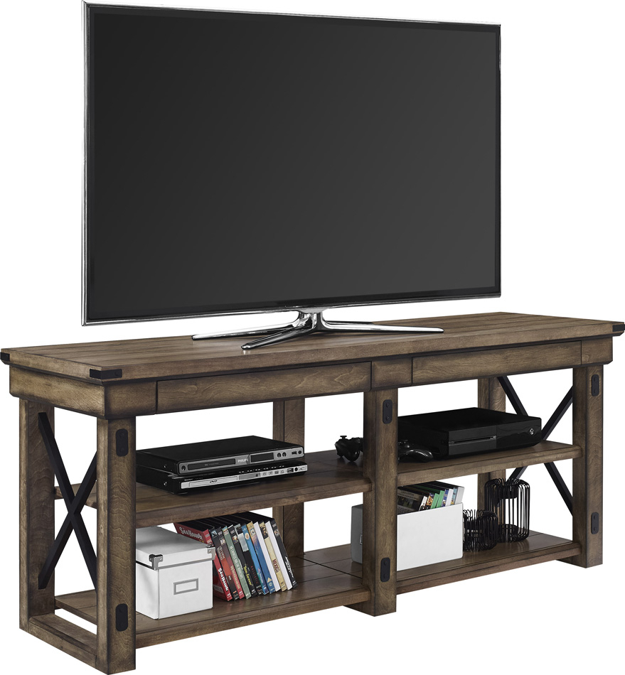 """Dorel Wildwood 65 Inch Tv Stand Grey Wood Veneer For Inch With Regard To Grenier Tv Stands For Tvs Up To 65"""" (View 13 of 15)"""
