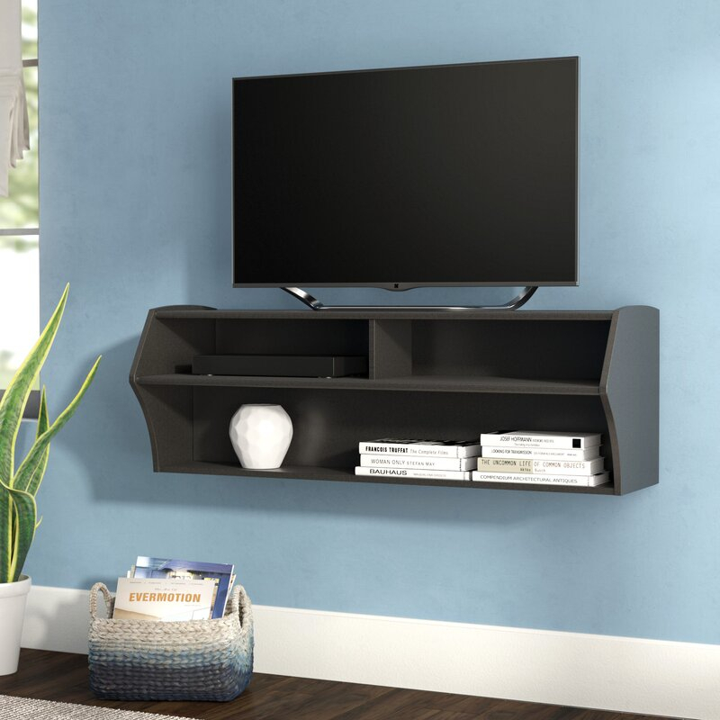 """Ebern Designs Capirano Floating Tv Stand For Tvs Up To 55 Regarding Aaliyah Floating Tv Stands For Tvs Up To 50"""" (View 7 of 15)"""