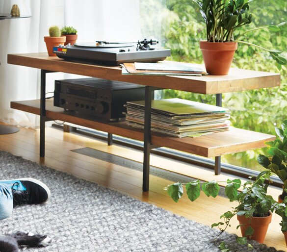 """Eq3 Reclaimed Teak 50"""" Tv Stand & Reviews 