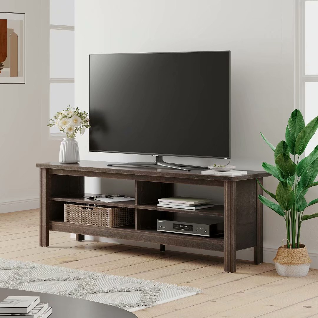"""Farmhouse Tv Stand Fo Tvs Up To 65 Inch Tv Console Table Pertaining To Grenier Tv Stands For Tvs Up To 65"""" (View 1 of 15)"""