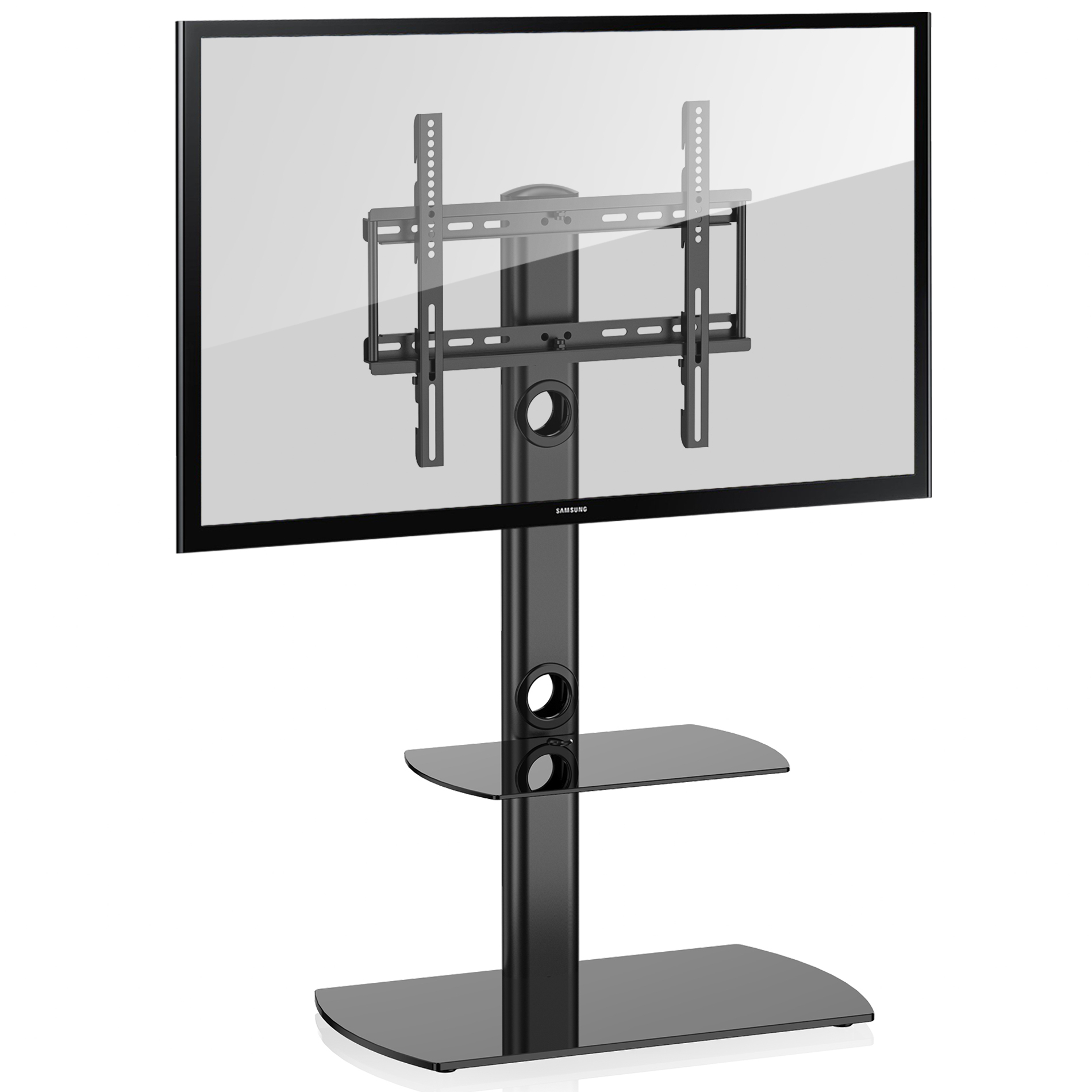 """Fitueyes Universal Floor Tv Stand With Swivel Mount Height With Regard To Paulina Tv Stands For Tvs Up To 32"""" (View 3 of 15)"""