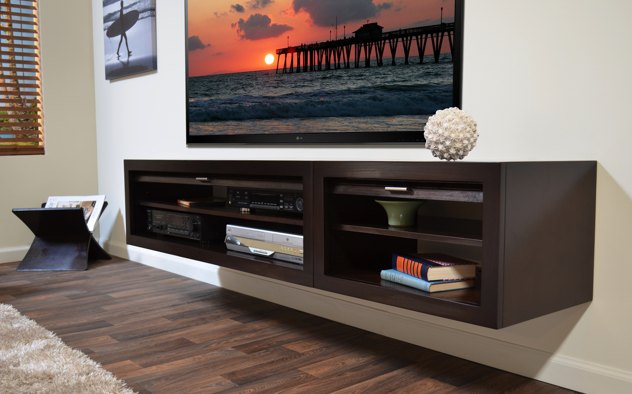 Floating Media Console: A Way To Display Your Tv With Intended For Baby Proof Contemporary Tv Cabinets (View 15 of 15)