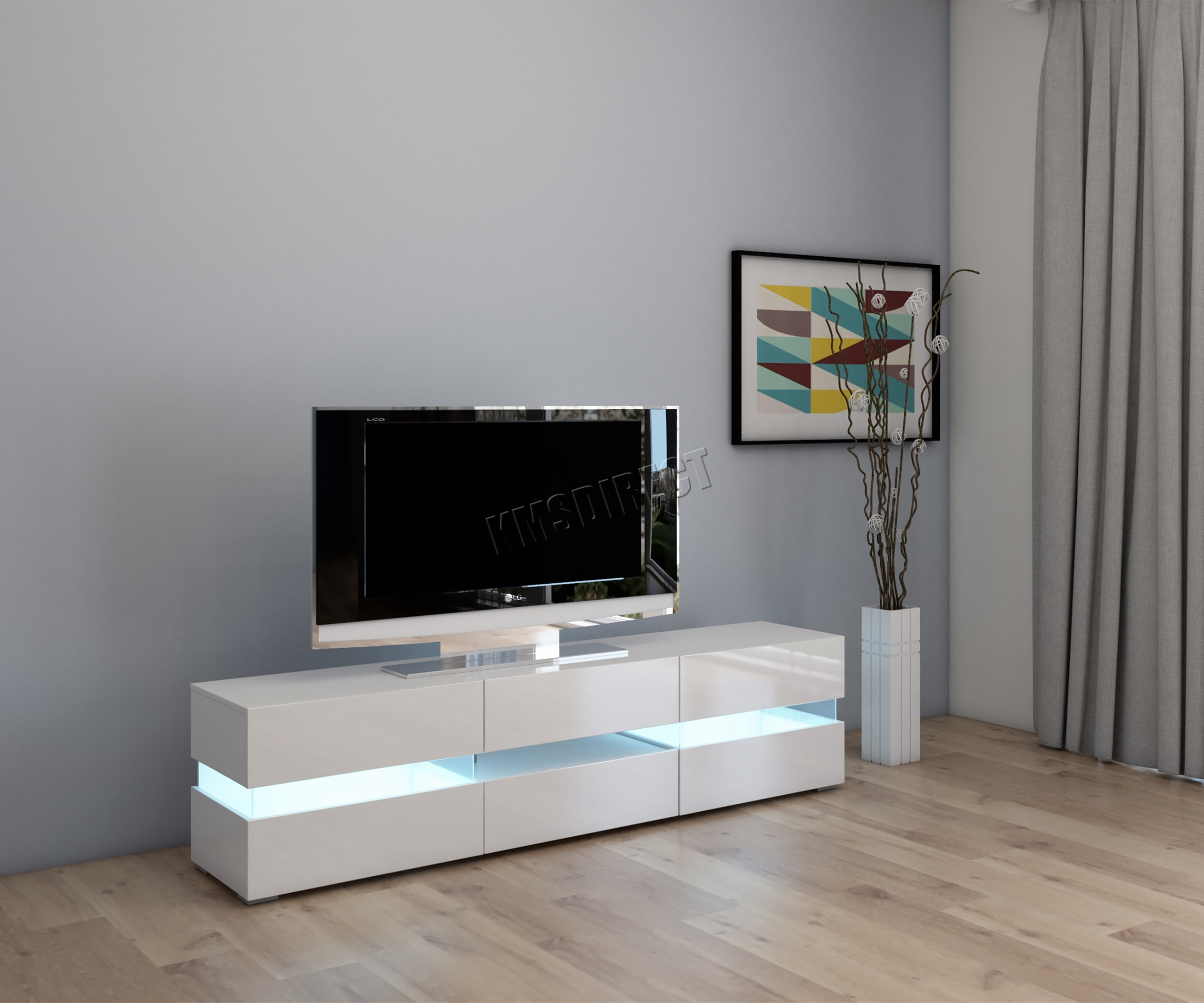 Foxhunter Modern High Gloss Matt Tv Cabinet Unit Stand With Regard To Tv Stands Cabinets (View 10 of 15)