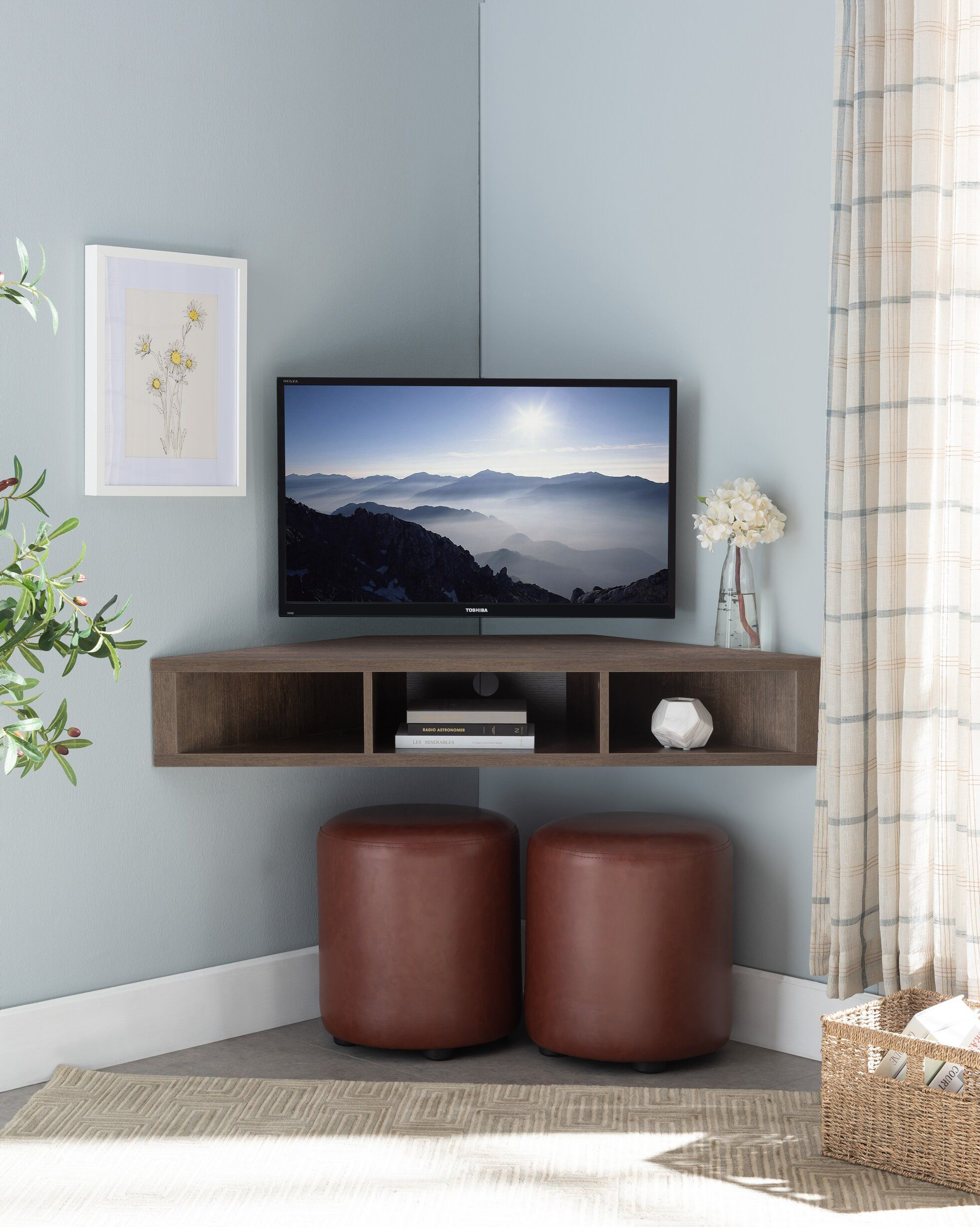 """French Floating Corner Tv Stand For Tvs Up To 50"""" In 2020 Pertaining To Aaliyah Floating Tv Stands For Tvs Up To 50"""" (View 1 of 15)"""