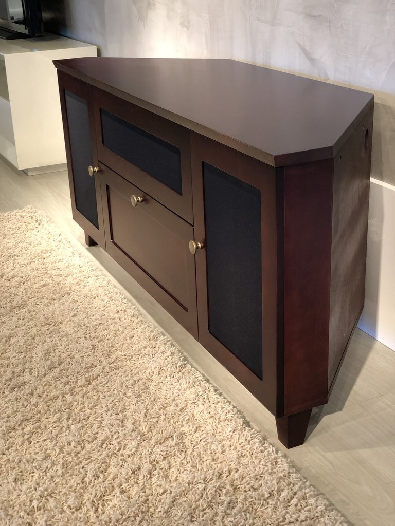 """Furnitech Ft61sccdc Shakers Corner Tv Stand Up To 65"""" Tv's Regarding Grenier Tv Stands For Tvs Up To 65"""" (View 15 of 15)"""