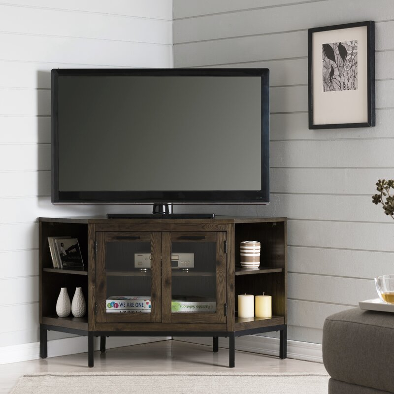 """Gracie Oaks Virna Corner Tv Stand For Tvs Up To 50 Throughout Baba Tv Stands For Tvs Up To 55"""" (View 4 of 15)"""