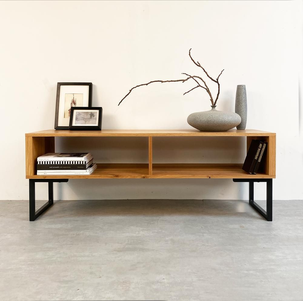 Henley Tv Stand On Minimalist Square Legs   Tv Stand Decor Intended For Square Tv Stands (View 10 of 15)