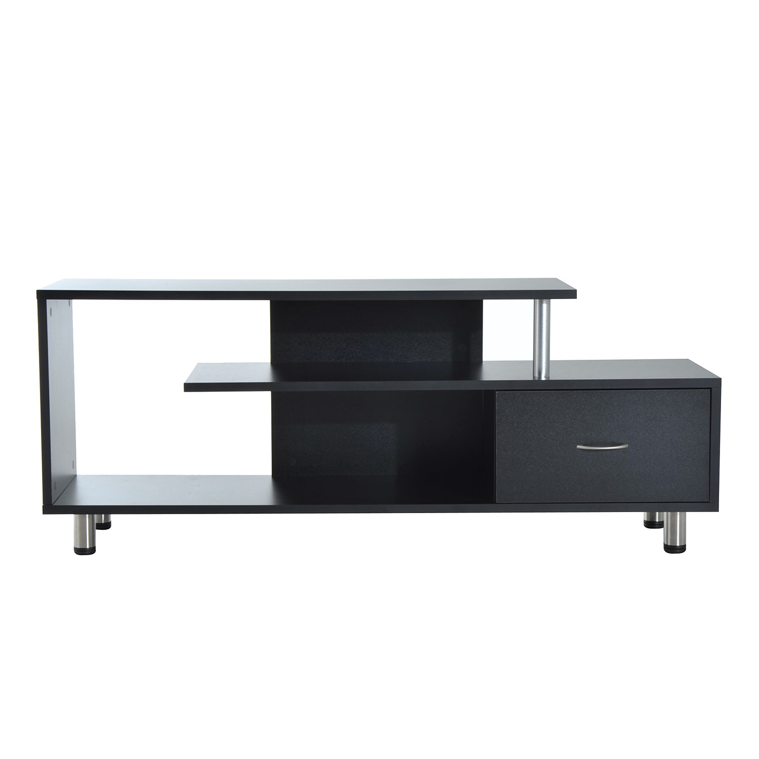 """Homcom 60"""" Media Center Flat Screen Tv Stand With Single With Single Tv Stands (View 7 of 15)"""