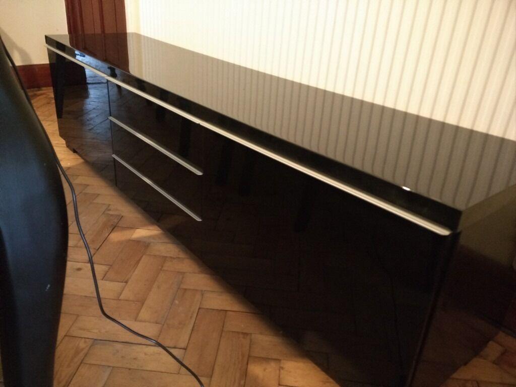 Ikea Besta Burs Black High Gloss Tv Bench, Cabinet, Unit Pertaining To Long Black Gloss Tv Unit (View 14 of 15)