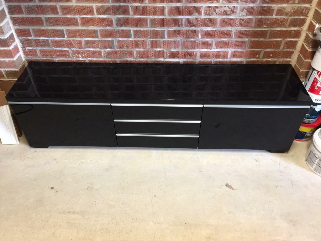 Ikea Bestå Burs High Gloss Black Tv Bench / Cabinet Regarding Black Gloss Tv Bench (View 11 of 15)