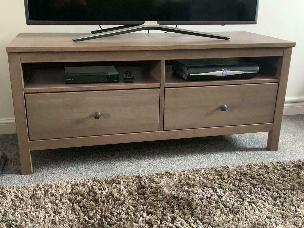 Ikea Hemnes Tv Stand + 2x Side Tables | In Blantyre Pertaining To Tv Stands At Ikea (View 6 of 15)
